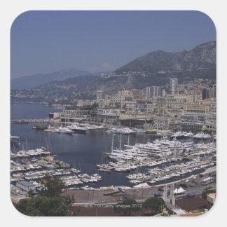 Harbor, Monte Carlo, French Riviera, Cote d' 3 Square Stickers
