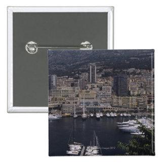 Harbor, Monte Carlo, French Riviera, Cote d' 4 Pinback Button