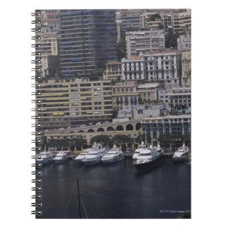 Harbor, Monte Carlo, French Riviera, Cote d' Spiral Notebook