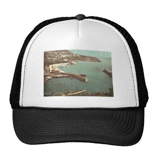 Harbor, Nice, France vintage Photochrom Hats