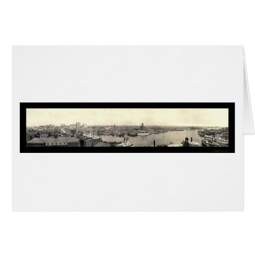 Harbor of Baltimore MD Photo 1905 Greeting Card