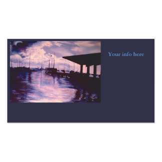 Harbor of Fort de France, Martinique Business Card