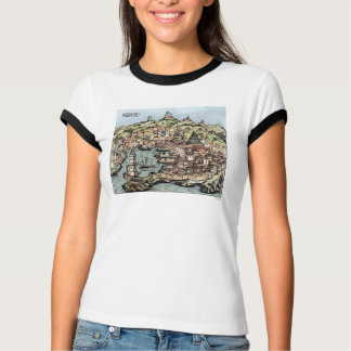 Harbor Of Genoa In Color, 1493 T-Shirt