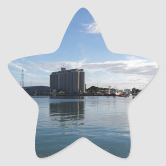 harbor of port louis capital of Mauritius Star Sticker