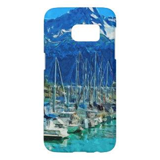 Harbor of Seward Alaska Abstract Impressionism Samsung Galaxy S7 Case