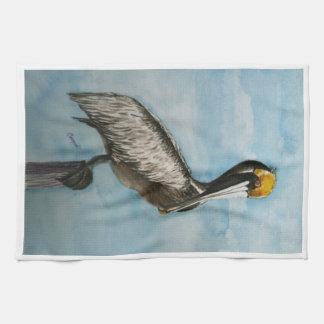 Harbor Pelican Hand Towel