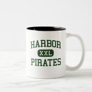 Harbor - Pirates - High - Santa Cruz California Two-Tone Coffee Mug