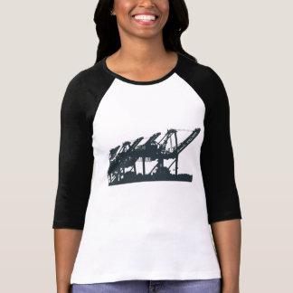 Harbor Port Cranes 3/4 Sleeve Raglan Shirt