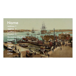Harbor, Portsmouth, England classic Photochrom Double-Sided Standard Business Cards (Pack Of 100)