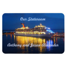 Harbor Reflections Hzt Stateroom Door Marker Magnet at Zazzle
