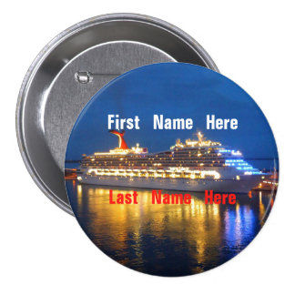 Harbor Reflections Name Badge Button