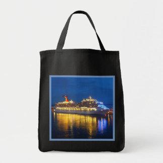 Harbor Reflections on Dark Tote Bag