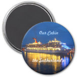 Harbor Reflections Personalized 3 Inch Round Magnet