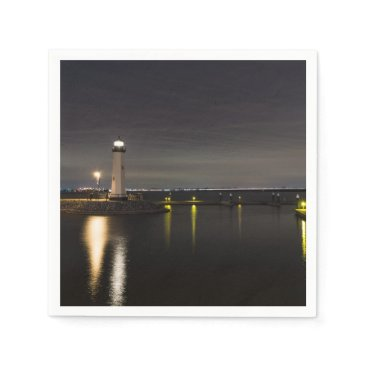Harbor Rockwall Lighthouse Napkin