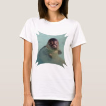 Harbor Seal Ladies Fitted T-Shirt