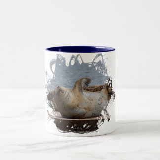 Harbor seal Two-Tone coffee mug