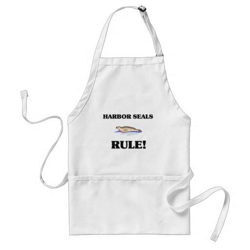 HARBOR SEALS Rule! Adult Apron
