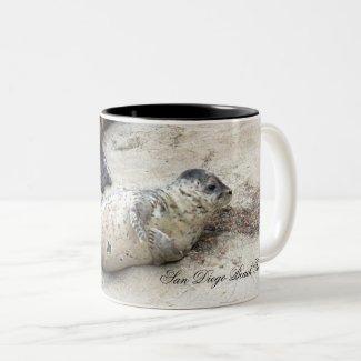 Harbor Seals Two-Tone Coffee Mug