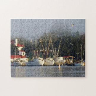 Harbor Shrimp Boats at Morning Jigsaw Puzzle