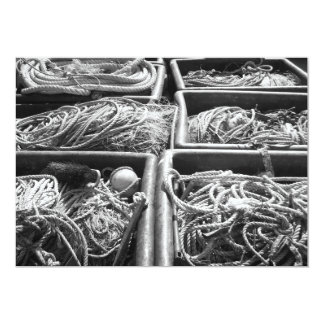 Harbor Side Boxes of Ropes. Card