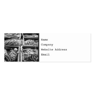 Harbor Side Boxes of Ropes. Double-Sided Mini Business Cards (Pack Of 20)
