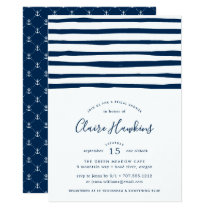 Harbor Stripe Bridal Shower Invitation