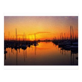 Harbor Sunset Postcard