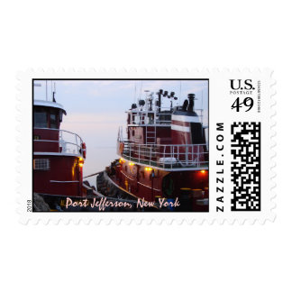 Harbor Tugboats at  in Port Jefferson NY Postage