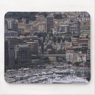 Harbor, vertical view, Monte Carlo, French Mouse Pad