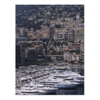 Harbor, vertical view, Monte Carlo, French Postcard