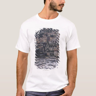 Harbor, vertical view, Monte Carlo, French T-Shirt