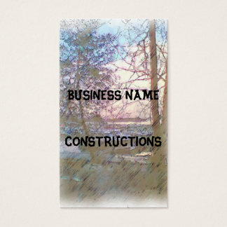 Harbor with boats business card
