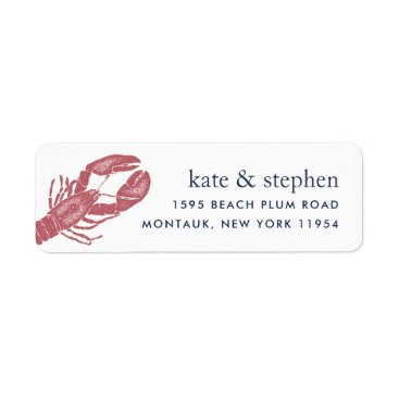 Harborside | Nautical Lobster Return Address Label