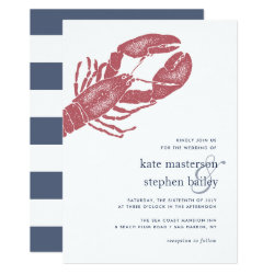 Harborside | Nautical Lobster Wedding Invitation