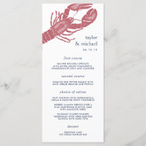 Harborside | Nautical Lobster Wedding Menu Card