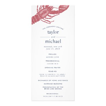 Beach Themed Harborside Wedding Ceremony Program