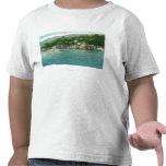 Harborview con los yates y los barcos de vela camiseta