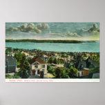 Harborview de la colina de la reina Anne Posters