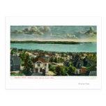 Harborview de la colina de la reina Anne Tarjetas Postales