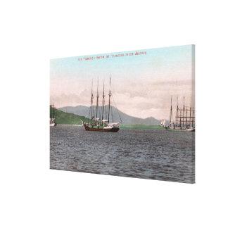 Harborview of Bay and Mt. Tamalpais Canvas Print