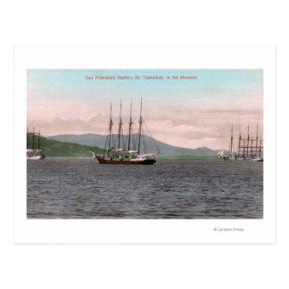 Harborview of Bay and Mt. Tamalpais Postcard