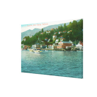 Harborview with Yachts and Sail Boats Canvas Print