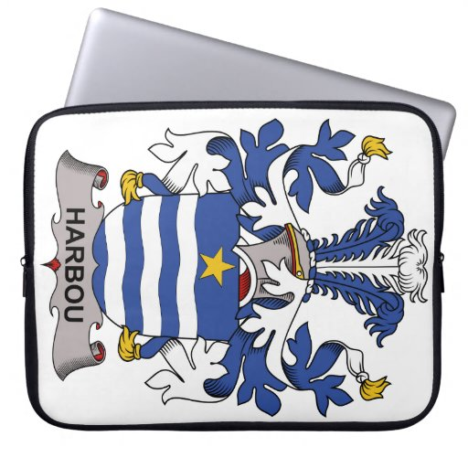Harbou Family Crest Computer Sleeves
