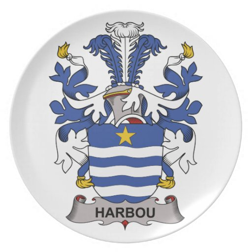 Harbou Family Crest Party Plate