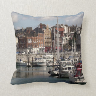 Harbour And Boats Photo Throw Pillows