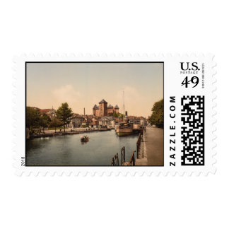 Harbour and Chateau Fort, Annecy, France Postage Stamps
