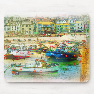 HARBOUR AS A PAINTING MOUSE PAD