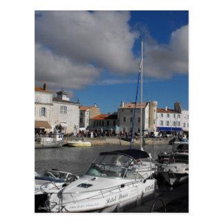 Harbour at Ile de Re, France Postcard