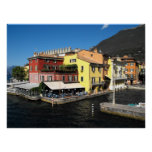 Harbour at Malcesine at Lake Garda in Italy Poster