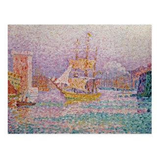 Harbour at Marseilles c 1906 Post Card